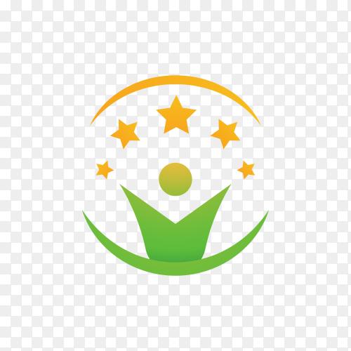 Community care logo illustration on transparent background PNG