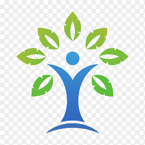 Community care logo template on transparent PNG