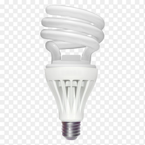 Compact fluorescent lamp isolated on transparent background PNG