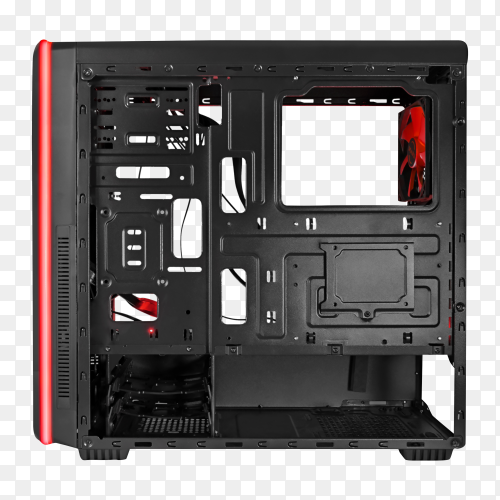Computer body on transparent background PNG