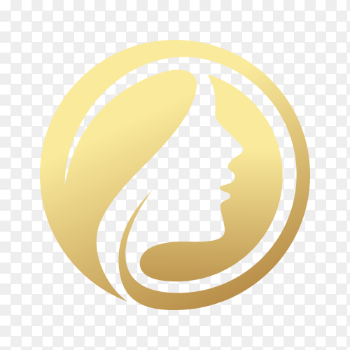 Creative golden beauty skin care logo design . spa therapy logo concept on transparent background PNG