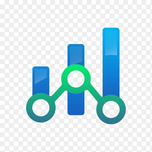 Finance chart logo on transparent PNG