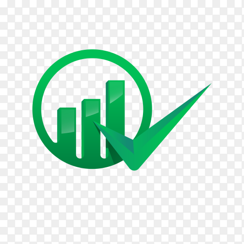 Finance chart logo template on transparent PNG