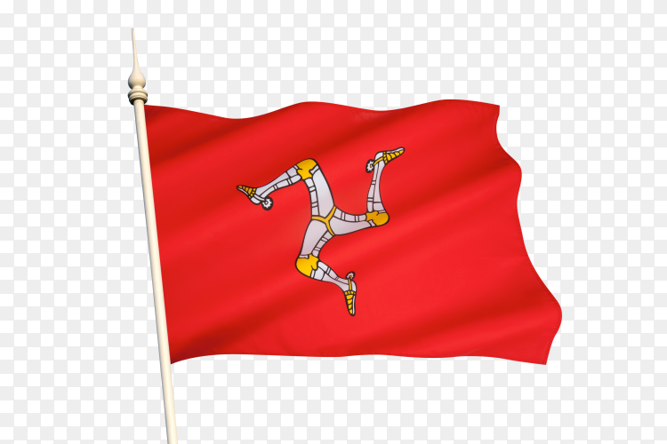 Flag of the isle of man on transparent background PNG