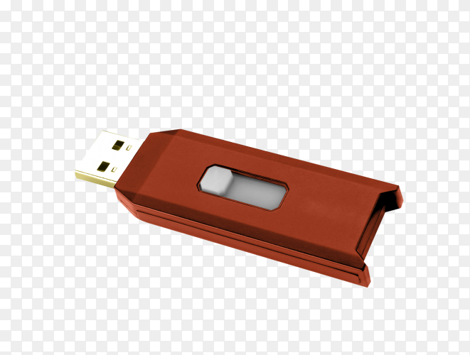 Flash drive isolated on transparent background PNG