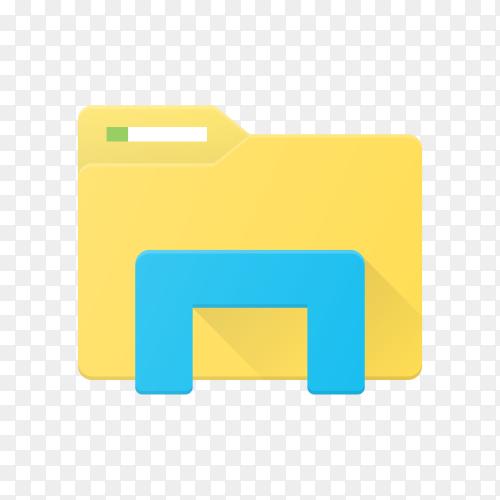 Folder icon design on transparent background PNG