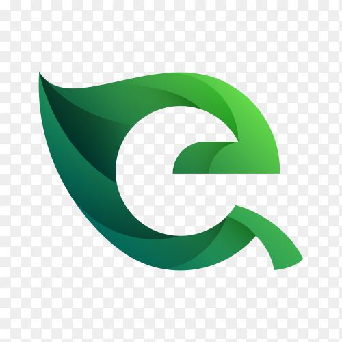 G letter logo template on transparent background PNG
