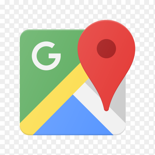 Google maps icon on transparent background PNG