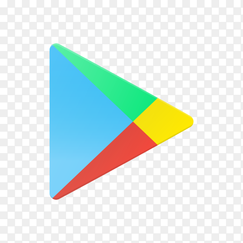 Google play icon design on transparent background PNG