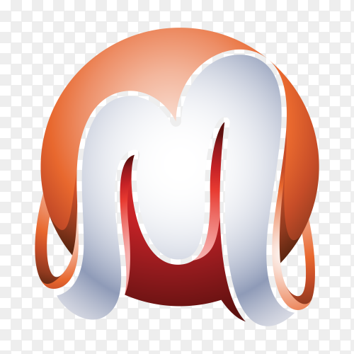Illustration of Abstract Letter M Logo on transparent background PNG