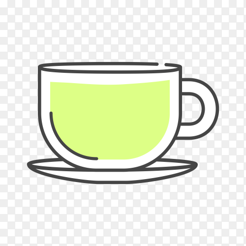 Illustration of coffee cup on transparent background PNG