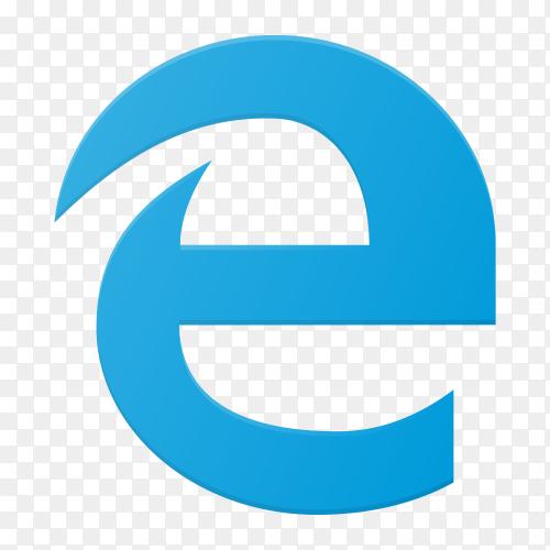 Internet Explorer icon design on transparent background PNG