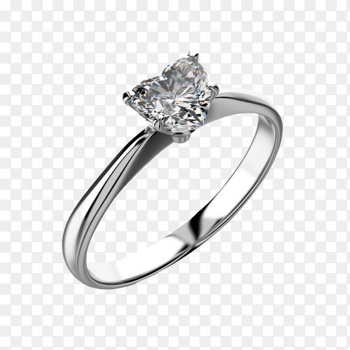 Jewelry diamond ring on transparent background PNG