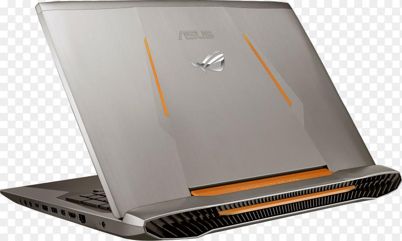Laptop device mock-up design on transparent PNG