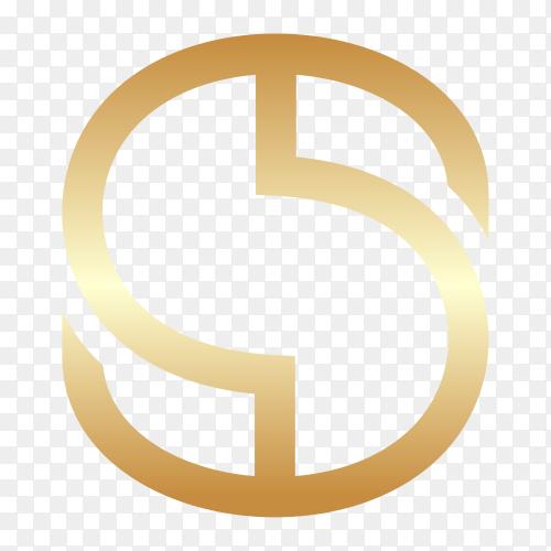 Letter S logo design on transparent background PNG