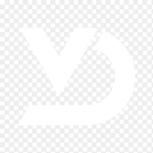 Letter logo design isolated on transparent background PNG