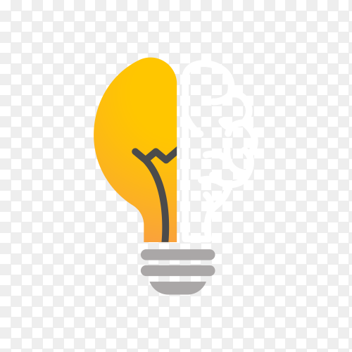 Light bulb – idea, creative, technology icon on transparent background PNG