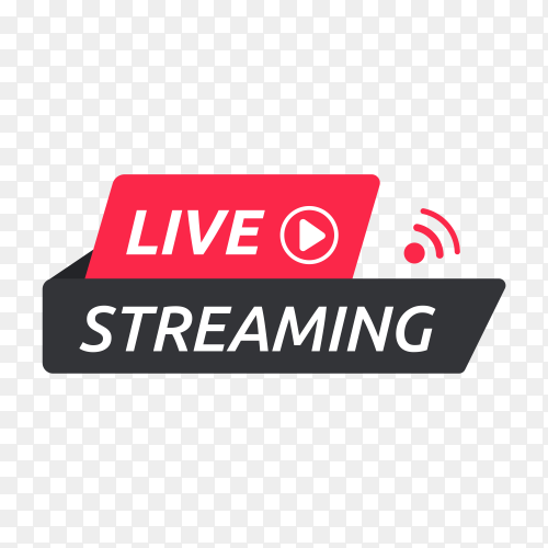 Live streaming icon design template on transparent background PNG