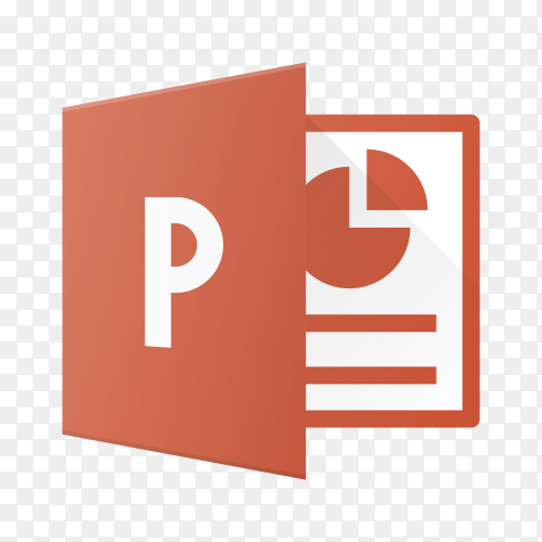 Microsoft office power point icon on transparent background PNG