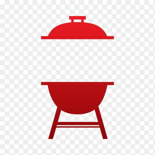 Modern barbecue label on transparent background PNG