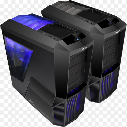 Modern personal computer on transparent background PNG