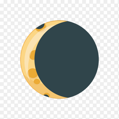 Moon phase infographic isolated on transparent background PNG