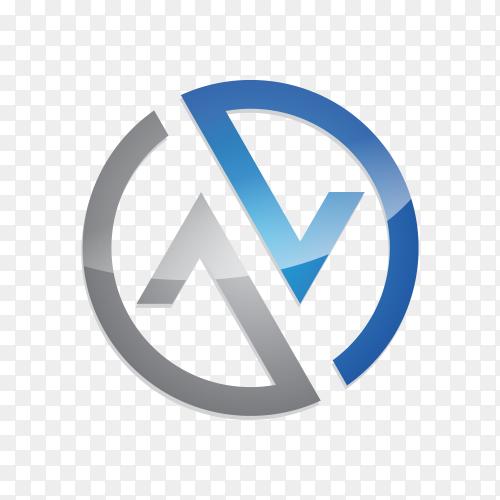 N letter logo design on transparent background PNG