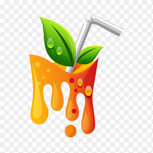 Orange juice gradient logo on transparent background PNG