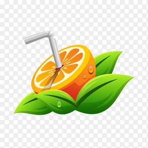 Orange juice logo on transparent background PNG