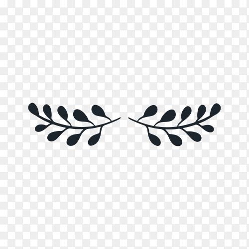 Ornament divider symbol on transparent background PNG