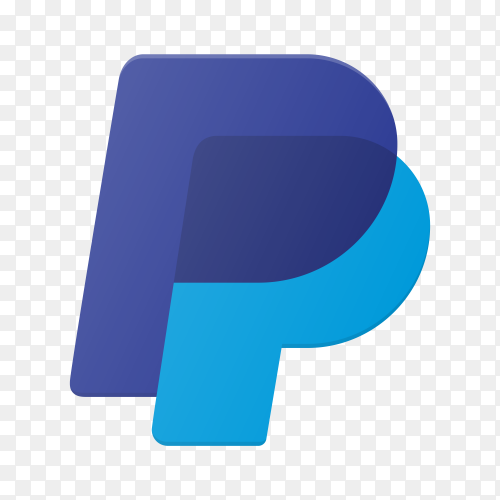PayPal icon design on transparent background PNG