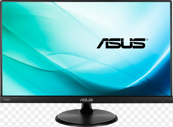 Realistic computer screen isolated on transparent background PNG