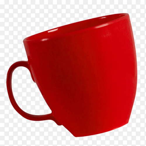 Red cup isolated on transparent background PNG