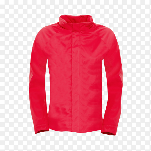 Red jacket isolated on transparent background PNG