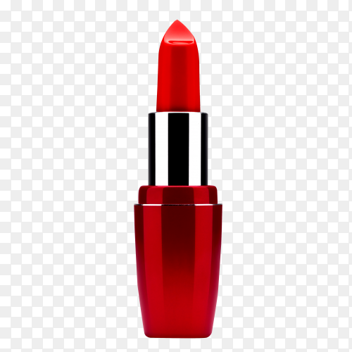 Red lipstick on transparent background PNG