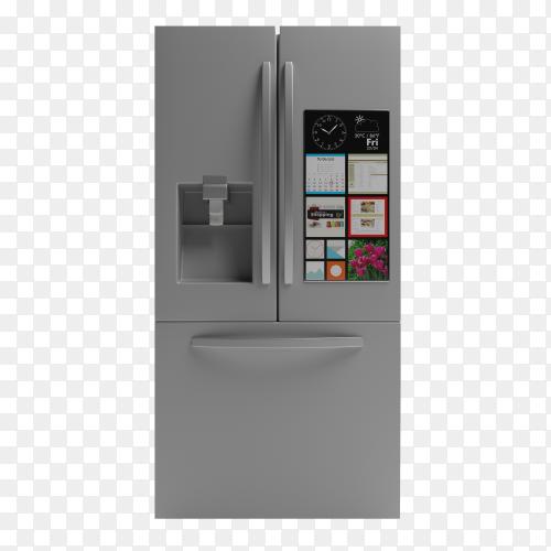 Refrigerator side by side on transparent background PNG