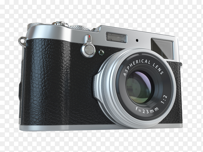 Retro vintage camera isolated on transparent background PNG