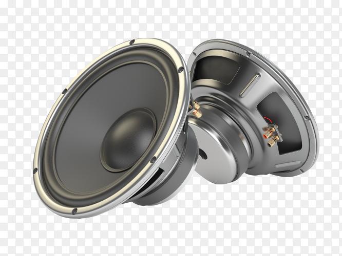 Sound speakers multimedia acoustic loudspeakers on transparent background PNG