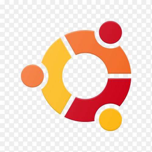 Ubuntu logo on transparent background PNG