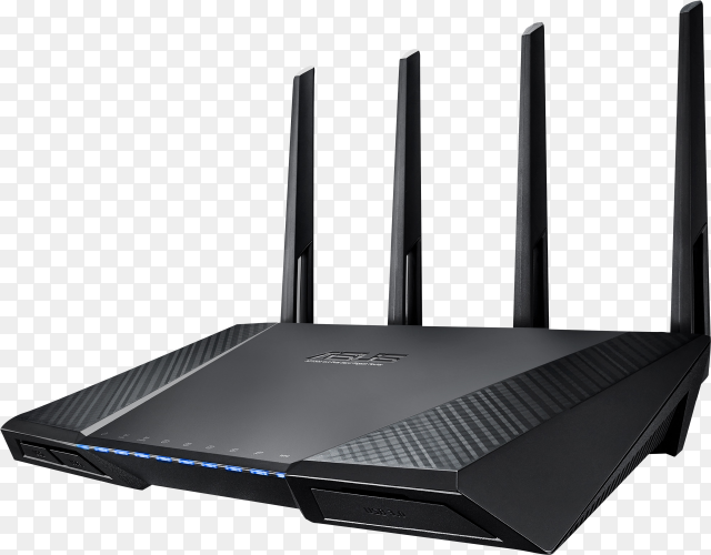 Wireless router on transparent background PNG