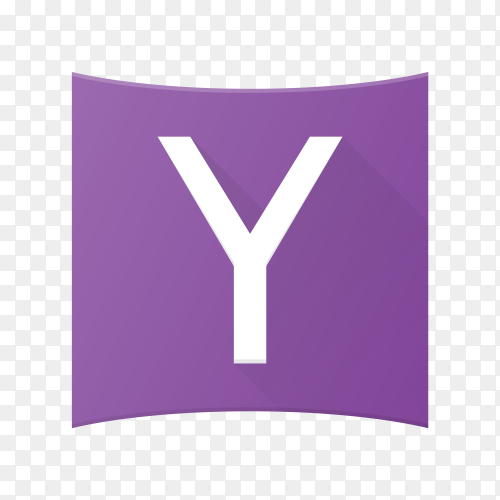 Yahoo icon design template on transparent background PNG