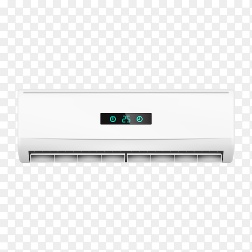 Air conditioners with air flow isolated on transparent background PNG