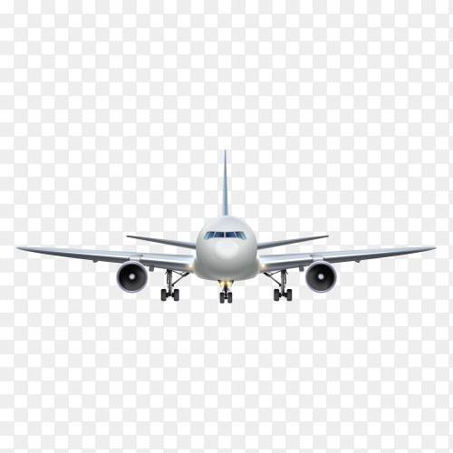 Airplane isolated on transparent background PNG