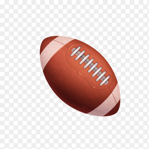 American football on transparent background PNG