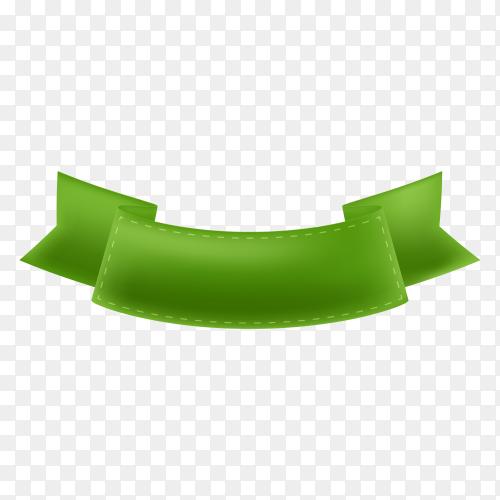 Banner and ribbon illustration on transparent background PNG
