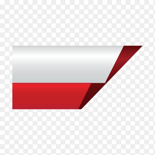 Banner design template on transparent background PNG