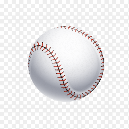 Baseball isolated on transparent background PNG