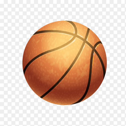Basketball ball isolated on transparent background PNG