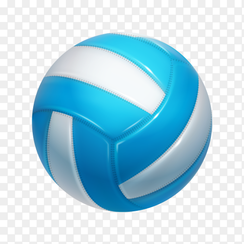 Blue and white ball on transparent background PNG