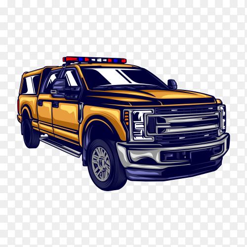 Car illustration on transparent background PNG